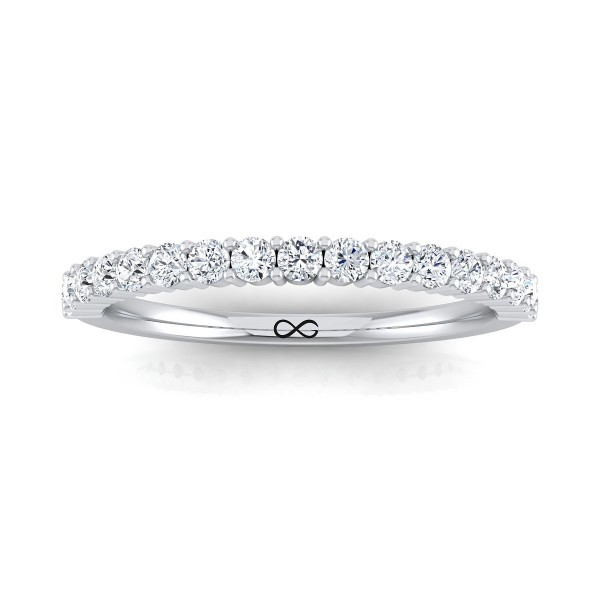 PETITE SHARED PRONG FULL MOON HALF BAND (0.25ct)