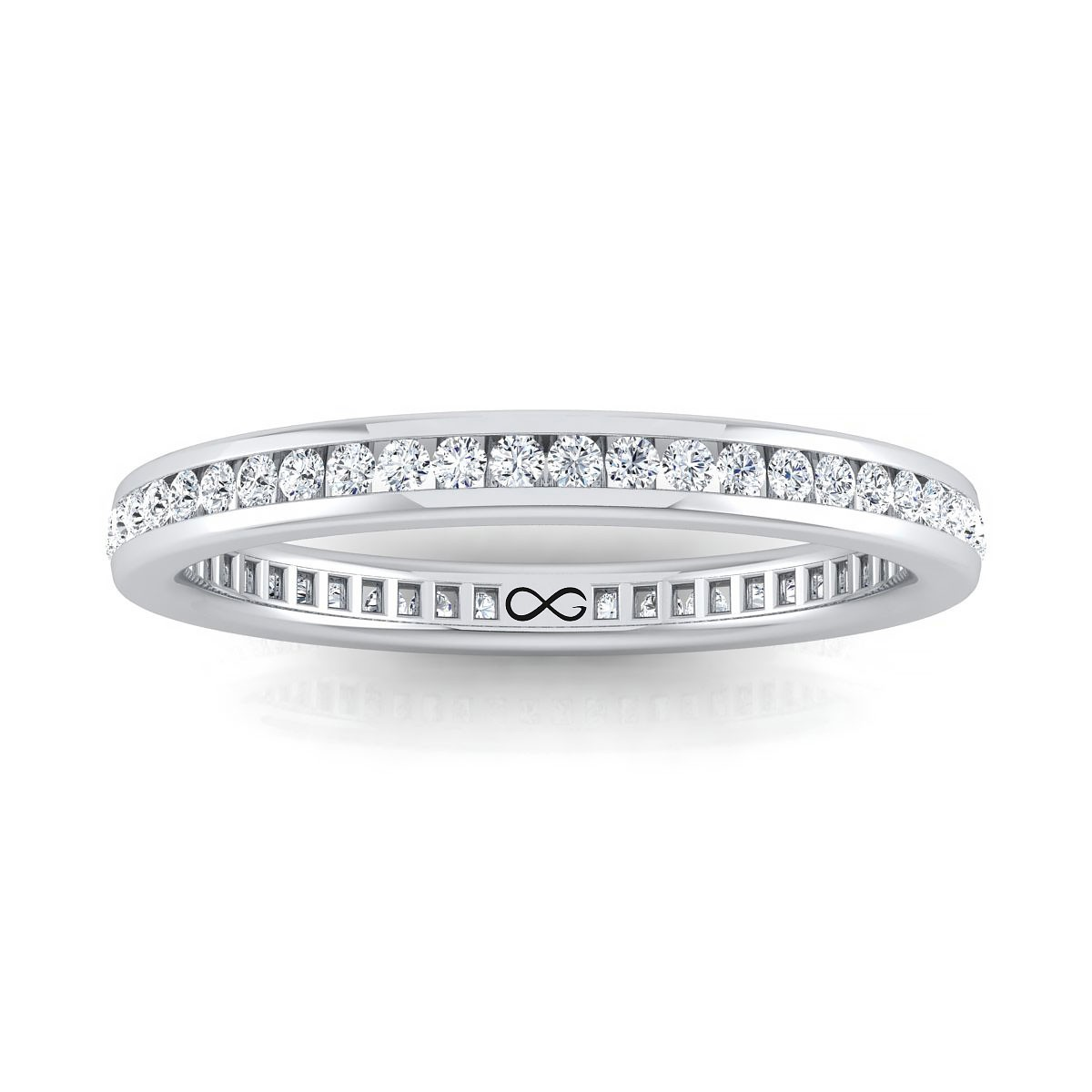 STARS IN CHANNEL SET ETERNITY BAND (0.38ct)