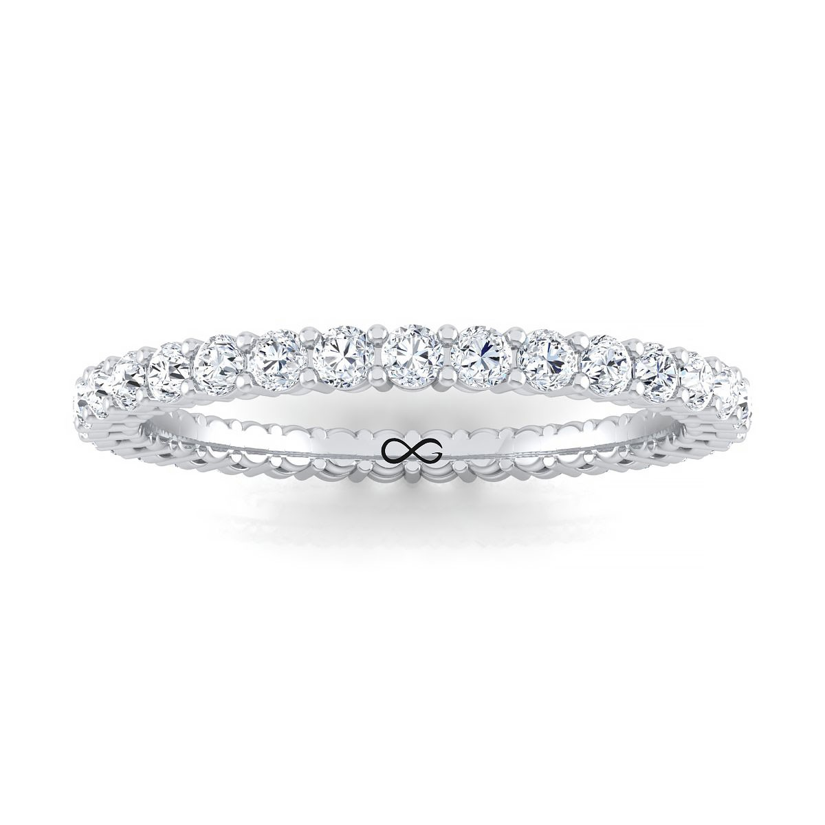 SHARED PRONG BASKET SET MOON ETERNITY BAND (0.75ct)