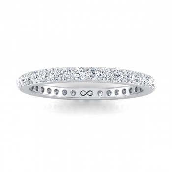 BEAD SINGLE SET MOON ETERNITY BAND (0.90ct)