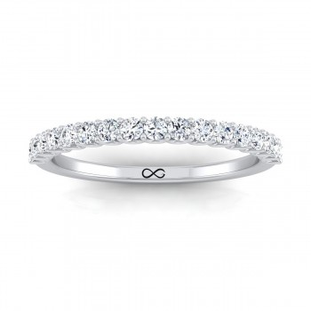 DEEP U CUT FULL MOON HALF BAND (1.00ct)