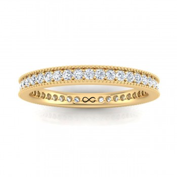 STARS IN MILGRAIN BEAD SINGLE SET ETERNITY BAND (0.33ct)