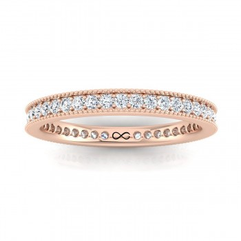 STARS IN MILGRAIN BEAD SINGLE SET ETERNITY BAND (0.50ct)