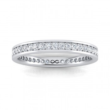 BEAD SINGLE SET FULL MOON WITH WALLS ETERNITY BAND (1.00ct)