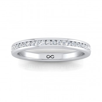 STARS IN CHANNEL SET HALF BAND (0.33ct)