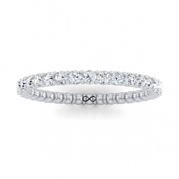SHARED PRONG SET MOON CRATER ETERNITY BAND (1.00ct)