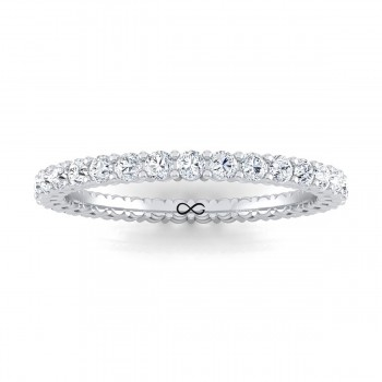 SHARED PRONG BASKET SET MOON ETERNITY BAND (2.10ct)
