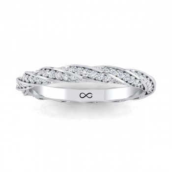BEAD SINGLE SET MILKY WAY TWIST ETERNITY BAND (0.38ct)