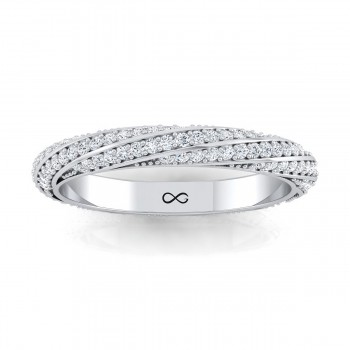 BEAD SINGLE SET ORION'S BELT ETERNITY BAND (0.50ct)