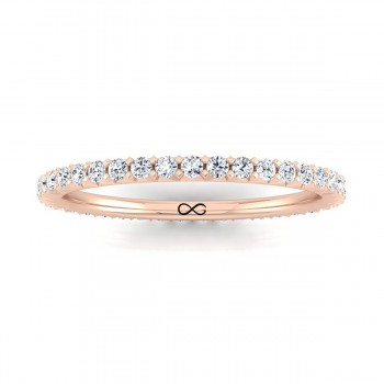FRENCH PAVE CUT ASTEROID ETERNITY BAND (0.75ct)