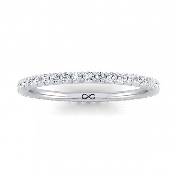 FRENCH PAVE CUT ASTEROID ETERNITY BAND (1.00ct)