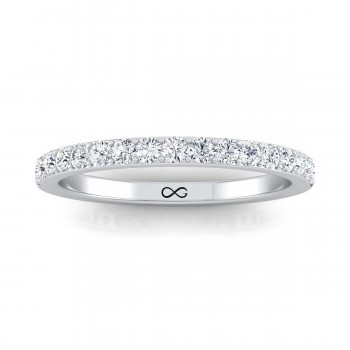 BEAD SINGLE SET MOON HALF BAND (0.75ct)