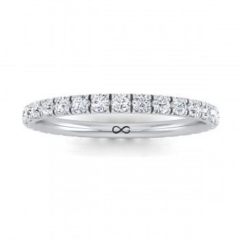 PRE-CUT MICRO U SET WANING ETERNITY BAND (0.50ct)