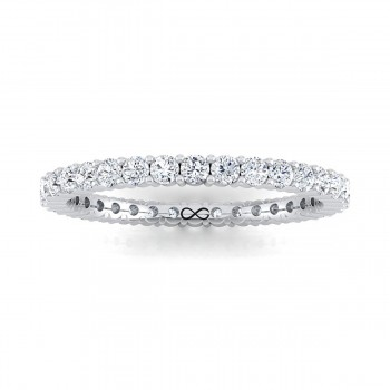 PETITE SHARED PRONG FULL MOON ETERNITY BAND (1.00ct)