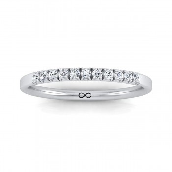 FRENCH PAVE CUT NEW MOON THIRD BAND (0.14ct)