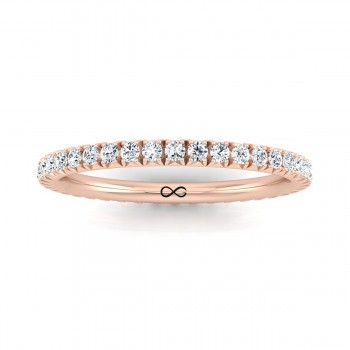 FRENCH PAVE CUT NEW MOON ETERNITY BAND (0.75ct)
