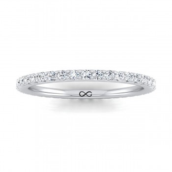 STARS IN SHARED V PRONG FRENCH SET ETERNITY BAND (0.50ct)