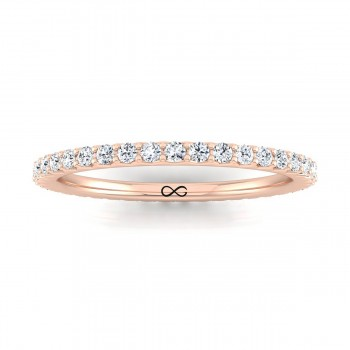 STARS IN SHARED V PRONG FRENCH SET ETERNITY BAND (0.75ct)