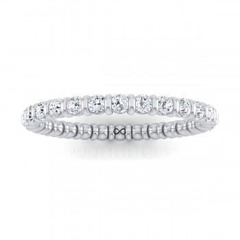 STARS IN CRATER CHANNEL SET ETERNITY BAND (0.38ct)