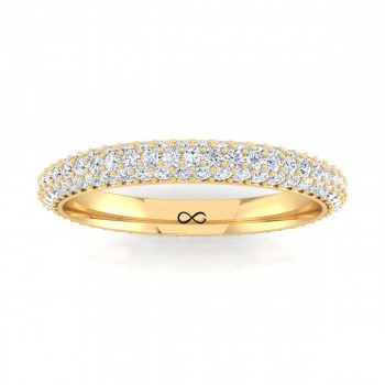 CLUSTERED BEAD SINGLE SET ETERNITY BAND (1.80ct)