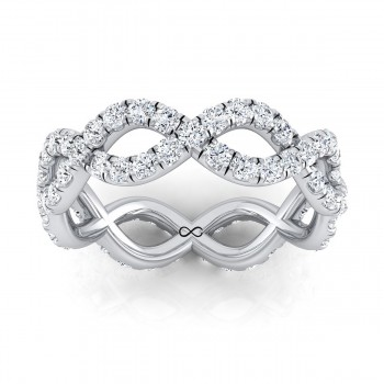 PRE-CUT MICRO U SET INFINITY ETERNITY BAND (1.33ct)