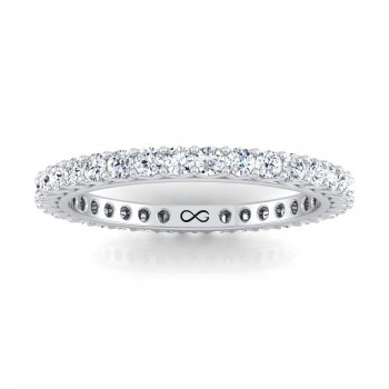 PETITE V SHARED STAR ETERNITY BAND (0.85ct)