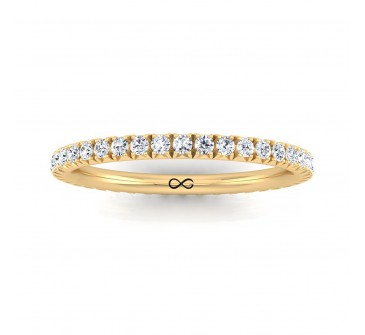 FRENCH PAVE CUT NEW MOON ETERNITY BAND