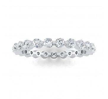 PETITE SHARED PRONG SET SHOOTING STARS ETERNITY BAND (1.00ct)